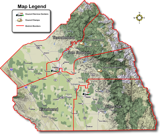 Sequoia Council District Outline
